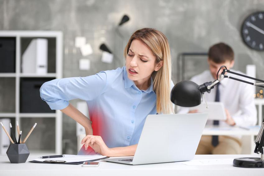 Korsryggsmerter etter jobb på kontoret